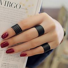 Midi prstenje Klasično prstenje Ljubav Personalized Circle Shape Crn Jewelry Za Vjenčanje Party Dnevno Kauzalni 3pcs