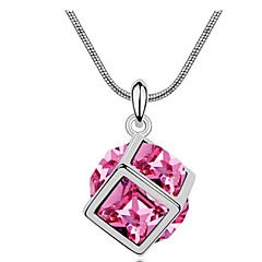 Thousands of colors Women's Alloy Necklace Daily Crystal-1-639