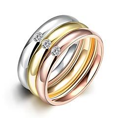 טבעות רצועה טבעות הצהרה טבעת זירקונה מעוקבת זירקון זירקוניה מעוקבת אופנתי סגנון בוהמיה סטייל פאנק מתכווננת מקסים סגנון מינימליסטי גדילים