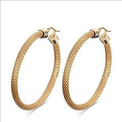 Kadın Moda İfade Takıları Avrupa Titanyum Çelik 18K altın Geometric Shape Mücevher Uyumluluk Parti Günlük