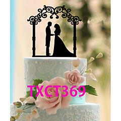 Tortenfiguren & Dekoration Nicht-personalisierte Klassisches Paar Acryl Hochzeit Schwarz Klassisches Thema 1 OPP