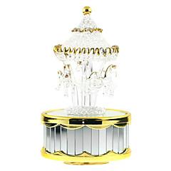 Boîte à musique Cylindrique Maquette & Jeu de Construction Doré ABS