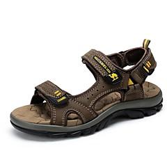 Sandaalit-Miesten kengät-Nahka-Ruskea / Kahvi-Ulkoilu / Rento