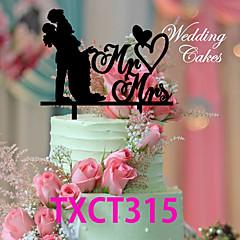 Tortenfiguren & Dekoration Nicht-personalisierte Klassisches Paar Acryl Hochzeit Rot / Schwarz Klassisches Thema 1 OPP