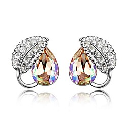 Thousands of colors Solitaire Earrings Women's Alloy Earring Crystal-2-054