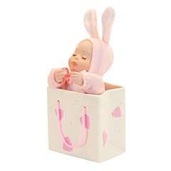 keramikk rosa / blå kreative romantisk musikk boksen for gave