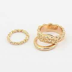 Korean Thought You Ny Same Paragraph Three-Piece Ring
