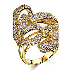 Γυναικεία Βέρες Cubic Zirconia Μοντέρνα κοσμήματα πολυτελείας Ζιρκονίτης Cubic Zirconia Χαλκός Επιμεταλλωμένο με Πλατίνα Επιχρυσωμένο