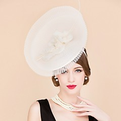 Women's Flax Silk Headpiece-Wedding Special Occasion Casual Fascinators Hats 1 Piece