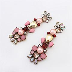 Big Long Crystal Drop Earrings For Women Vintage Earrings Flower Bohemian Style Fine Jewelry Wedding Accessories