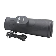 Panda 10X50 Waterproof Monocular Telescope w/ High Resolution Large Eyepiece - Black
