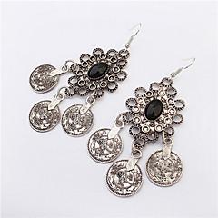 2016 New Arrival Bohemia Jewelry Tibetan Silver Vintage Round Circle Retro Drop Earrings
