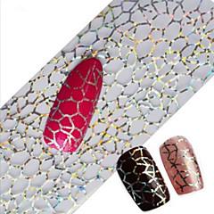 1stk 100cmx4cm glitter negle folie mærkat smukke blonder blomst blad fjer billede negle dekorationer diy skønhed stzxk16-20