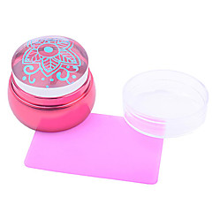 Nail Art Stamping Placa Stamper raspador 3.5cm for the silicone head
