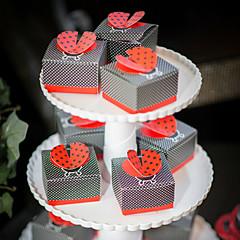 12 Kusů v sadě Favor Holder-kreativita Lepenkový papír Krabice na výslužky Dárkové krabice Sáčky na cukroví Nepřizpůsobeno