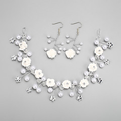 Jewelry Set Women's Wedding Jewelry Sets Alloy / Rhinestone Imitation Pearl / Rhinestone Earrings / Tiaras White