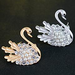 Little Swan Crystal Brooch