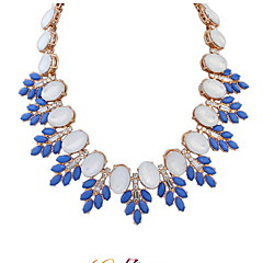 Fashion Wild Big Diamond Necklace Leaves