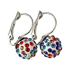 Multicolor Luxury Shiny Crystal Ball Diamond Ball Earrings