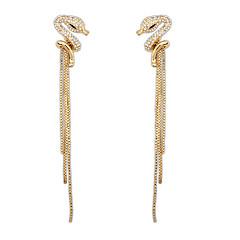 Serpentine Fashion Diamond Tassel Earrings Long Section