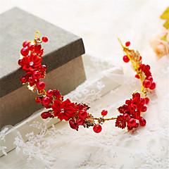 נשים נערת פרחים פנינה ריינסטון סגסוגת כיסוי ראש-חתונה אירוע מיוחד נזרים חלק 1