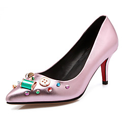 Women's Shoes Stiletto Heel Heels / Novelty / Pointed Toe Heels Wedding / Party & Evening / Dress Pink / Red