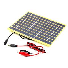 5w 18v ein Grad hocheffizienten monokristallinen Solarladegerät für 12V-Batterie mit Krokodilklemme (swb5018b)