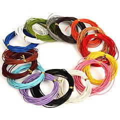 beadia 5 mts 1mm okrągły skórzany sznur&drut&string (16 kolorów)