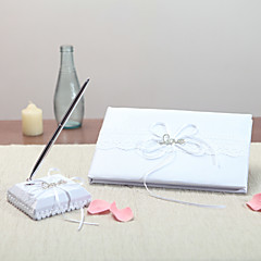 Satin Garden ThemeWithRhinestones Guest Book Pen Set