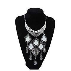 Fashion Atmospheric Water Droplets Tassel Necklace Luxury Jewelry