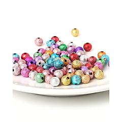 beadia 8mm akril gyöngyök, arany, ezüst műanyag gyöngyök 29 g (aprx.100pcs)