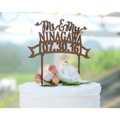 Kakkukoristeet Personalized Klassinen pari / Sydämet Korttipaperi Häät / Vuosipäivä / Bridal Shower-kutsut Flowers ChocolateKukkais-teema