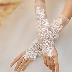 Opera Length Fingerless Glove Lace Bridal Gloves Party/ Evening Gloves Spring Summer Fall Winter Pearls lace