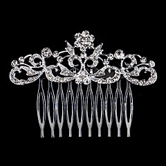 8*6cm Hair Combs with Leaf Crystal for Lady Wedding Party
