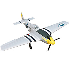 Dynam P51D Mustang 1:8 Brushless Electric 50KM/H RC Airplane 4ch 2.4G EPO Black & White PNP