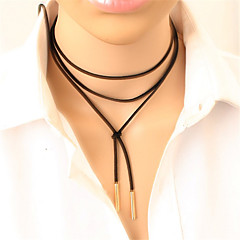 Women's Choker Necklaces Tattoo Choker Y Shaped Leather Alloy Tattoo Style Fashion Long Personalized Gothic Punk Costume Jewelry Jewelry