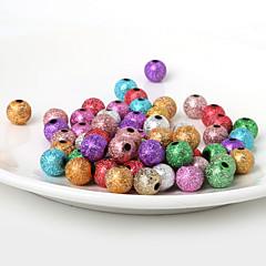 beadia 10mm Acrylperlen Gold-Silber-Kunststoff-Perlen 28g (aprx.50pcs)