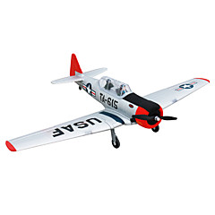 Dynam AT-6 Texan 1:8 Moteur Sans Balais 50KM/H Quadrirotor RC 4ch 2.4G EPO Red & White Assemblement requis