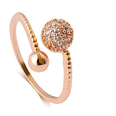 Ring Fashion Wedding / Party / Daily / Casual Jewelry Alloy Women Band Rings 1pc,Adjustable Gold / Rose / Silver