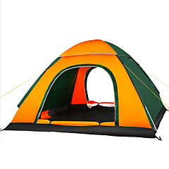 3-4 persons Tent Triple Automatic Tent One Room Camping Tent >3000mmMoistureproof/Moisture Permeability Waterproof Breathability