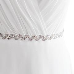 Satin Mariage / Fête/Soirée / Quotidien Ceinture-Billes / Strass Femme 250cm Billes / Strass