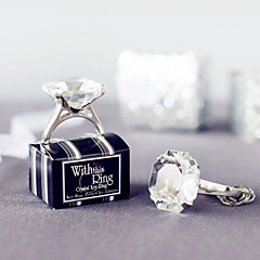 """With This Ring"" Engagement Ring Keychain in Gift Box Wedding Favors"
