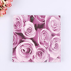 100% virgin pulp 20pcs Rose Wedding Napkins