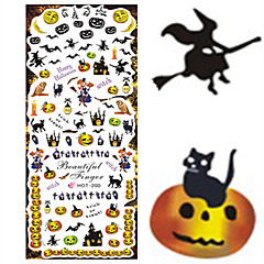 1 pcs Nail Art Water Transfer Halloween Sticker Interesting Animal Pumpkin Image Nail Beauty HOT200