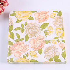 100% virgin pulp 20pcs Floral Wedding Napkins