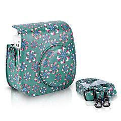 한국 후지 필름 instax 미니 8 즉석 필름 카메라, 녹색에 대한 트럼펫 꽃 PU 가죽 케이스 가방
