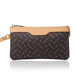 AOVO® Damen PVC Brieftasche Braun-Y081