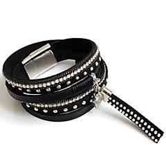 Bracelet Bracelets Wrap Alliage Forme de Ligne Mode Soirée Bijoux Cadeau Noir / Rouge / Bleu / Gris / Incarnadin,1pc