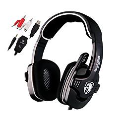 Sades SA922 ヘッドホン(ヘッドバンド型)Forメディアプレーヤー/タブレット / コンピュータWithマイク付き / DJ / ボリュームコントロール / FMラジオ / ゲーム / スポーツ / ノイズキャンセ / Hi-Fi
