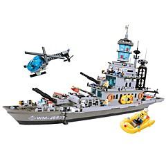 אבני בניין לקבלת מתנה אבני בניין צעצוע בניה ודגם ספינת מלחמה פלסטיק מעל 6 קשת צעצועים